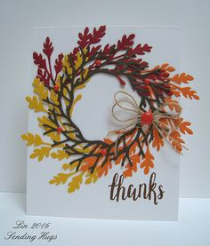 Here's a fall card using my new  September My Monthly Hero card kit , which has sold out.  I'm SO glad that I grabbed this one when I did, a...