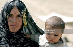Afghanistan -  Kuchi nomad woman and child