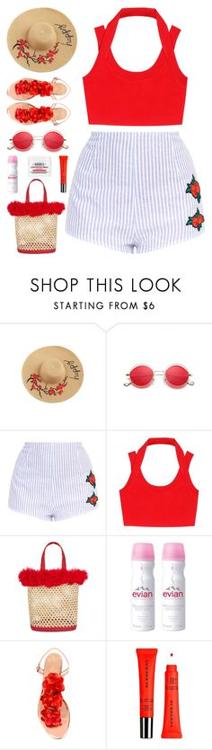 """Heatwave? Bring it On"" by stavrolga on Polyvore featuring T By Alexander Wang, Nannacay, Evian, Charlotte Olympia, Burberry and Kiehl's"