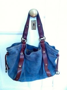 Slouchy Suede Lucky Brand Blue, Purple, Green, Grey Tote Bag $51