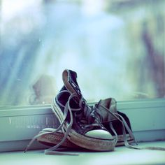 Old converse have seen the world with you.