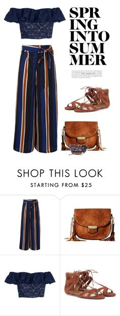 """""""Big Flare Pants"""" by defineyourstyle ❤ liked on Polyvore featuring Gabriella Rocha, Rebecca Taylor and Aquazzura"""