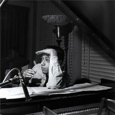 """Horace Silver, """"Lee Morgan Volume II"""" session, Hackensack, New Jersey December 1956 Photo Francis Wolff Jazz Artists, Jazz Musicians, Horace Silver, Francis Wolff, Jazz Cat, All About Jazz, Musician Photography, Free Jazz, Cool Jazz"""