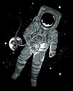 Artist Illustrates Optical Illusions to Mess with Peoples' Heads Astronaut Illustration, Space Illustration, Illustrations, Astronaut Wallpaper, Space Drawings, Je T'adore, Astronauts In Space, Optical Illusions, Vector Graphics