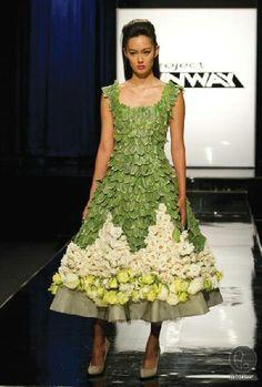 Amazing project runway flower dress