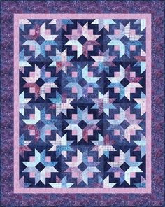 Daybreak designed by Georgette Dell'Orco for Cozy Quilt Designs. Features Artisan Batiks: Posies by Lunn Studios, shipping to stores October 2018. Roll up friendly. Pattern available for purchase (cozyquilt.com) #artisanbatiks