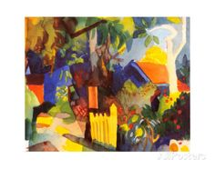 Landscape with Light Trees, 1910 Prints by Auguste Macke at AllPosters.com