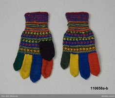Vantar från Arvidsjaur Mittens from Arvidsjaur DigitaltMuseum. Mittens Pattern, Knit Mittens, Knitted Gloves, Lappland, Knitting Patterns, Cheer, Crochet, Creative, Sweden