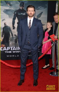 Chris Evans & Emily VanCamp Premiere 'Captain America: Winter Soldier' in Hollywood!