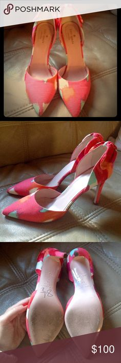 Kate Spade New York Heels Some signs of wear (please see photos) overall good condition! Beautiful colorful pumps! kate spade Shoes Heels