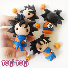 Goku Chibi Dragon Ball Z Polymer Clay Figurine by MadeByTokiToki