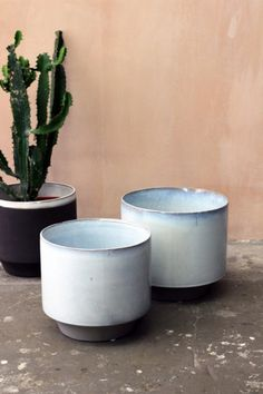 Set of 2 Large Peace Planters - White - View All - Home Accessories