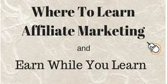 Are you starting affiliate marketing? Do you know where to learn affiliate marketing? Marketing Training, Internet Marketing, Affiliate Marketing, Online Business, Success, Construction, Learning, Life, Building