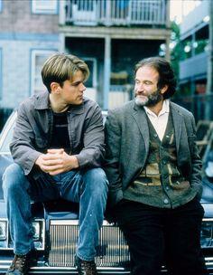 Robin Williams and Matt Damon in Good Will Hunting.