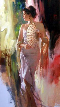 Beautiful women in art by Richard Johnson