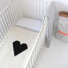 My heart baby blanket now available in crib size! SIZE: 32 x 36 (Great throw blanket size as well!) This baby blanket will take about 8 weeks to Throw Blanket Size, Knitted Baby Blankets, Nursery Inspiration, Kid Spaces, Baby Cribs, Baby Love, Baby Baby, Baby Knitting, Kids Bedroom