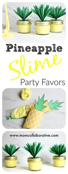 Pineapple Slime Party Favors Sensory Play DIY