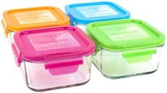 Wean Green Lunch Cube Garden Pack of 4 - 490ml, Multicolor