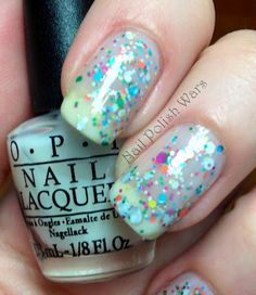 OPI Don't Touch my Tutu/OPI Rainbow Connection/Don't Touch my Tutu sandwich