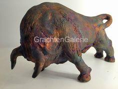 Bull   Hans Peter Mader   Keramiek   Raku   Sculpture   Art Stone Sculpture, Sculpture Art, Reclaimed Wood Wall Art, Pottery Sculpture, Ceramic Animals, Equine Art, Animal Sculptures, Wooden Crafts, Animals And Pets