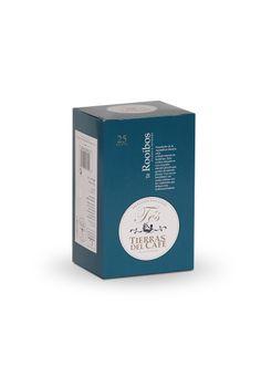 Té rooibos de Tierras del Café, con un sabor  exótico e inolvidable. Gran variedad de sabores con propiedades relajantes y digestivas.