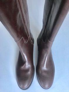 Clarks Ladies Marquette Silk Dark Brown Leather Knee High Long BOOTS UK 5 D    eBay 46e467abe28b