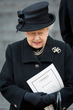 The Queen leaves St Paul's Cathedral after the funeral of Margaret Thatcher (Picture: AFP/Getty)
