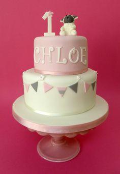 1st Birthday Lamb Cake
