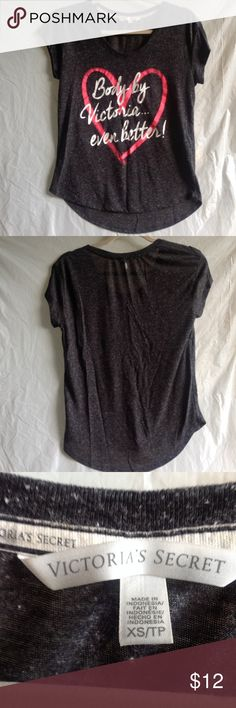 Victoria's Secret top XS Body by Victoria Black Victoria's Secret top size S.  Body by Victoria...even better.  Excellent condition, comes from anon smoking home.  Approx 18 inches across from armpit to armpit...double for actual width. Victoria's Secret Tops Tees - Short Sleeve