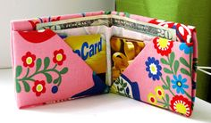 Bee-a-ba: Fabric Origami Wallet - only folding, no sewing