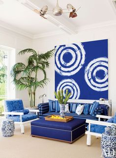 Crazy for Cobalt!  c gary simmons painting, aman and carson design