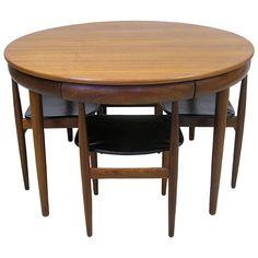 1960s Hans Olsen Teak Dining Table and Chairs, Denmark
