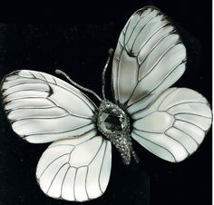 Butterfly Brooch set with a Rose-Colored Diamond by JAR (Joel Arthur Rosenthal )