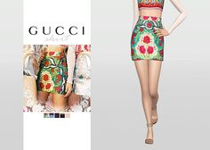 Gucci Skirt • New mesh / EA mesh edit • Category: bottoms (women) • Age: teen / young adult / adult / elder • 5 swatches Download: SimFileShare