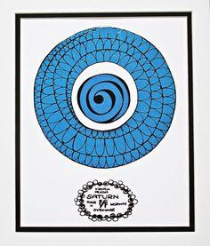 Art Poster, Figgjo Flint Kirsten Dekor Saturn Design, wall decor, Kitchen Art Digital Print.