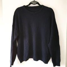 """NWOT cotton navy veena sweater 25"""" in length Brandy Melville Sweaters Crew & Scoop Necks"""