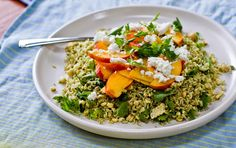 Bon Appétempt: Green Rice Salad with Nectarines and Corn (and Babies?)