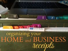 31 Days To An Organized Office: Day 19 - Organize Your Receipts