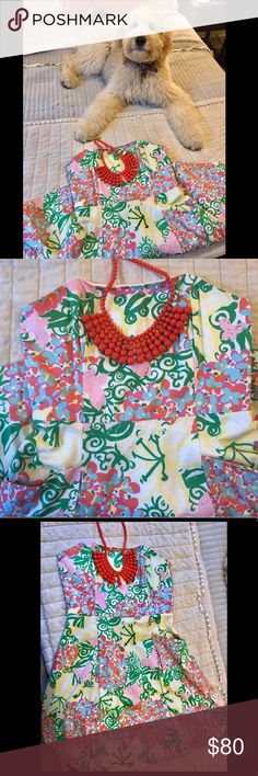 Lilly Pulitzer Fit and flare dress! Only worn once Beautiful Lilly dress in perfect condition. Only worn once for Easter Sunday. Size 6. Lilly Pulitzer Dresses Strapless