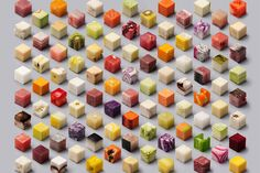 Lernert and Sander Present 98 Perfect Cubes of Raw Food