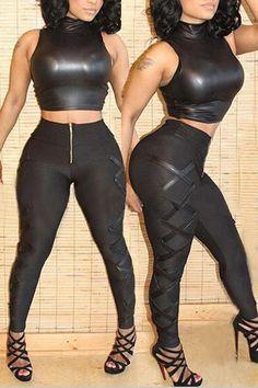 Hot Leather Shiny Jumpsuit Fashion Style Mercedes Morr ...