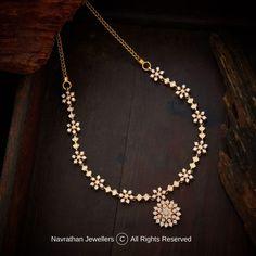 Gold Bangles Design, Gold Earrings Designs, Gold Jewellery Design, Diamond Jewellery, Necklace Designs, Real Gold Jewelry, Gold Jewelry Simple, Real Diamond Necklace, Diamond Choker