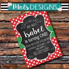 Any Color BIRTHDAY MERRY Christmas Party 1st 2 3 4 5 Girl Boy Polka Dot Red Green Bridal Couple Wedding Shower Vintage Chalkboard Invitation