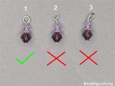 How to make a perfect wire loop, from http://www.beading.com.my/blog/how-to-make-a-perfect-simple-loop/  #JewelryTips