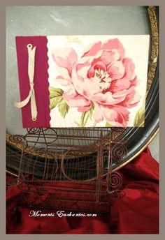 Nice Journal Notebook  french handmade pivoine  by MesPetitsPeches