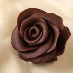 Learn how to make chocolate roses with this step by step photo tutorial.