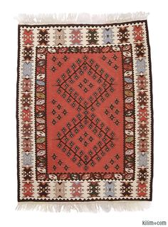 K0003187 Vintage Sharkoy Kilim | Kilim Rugs, Overdyed Vintage Rugs, Hand-made Turkish Rugs, Patchwork Carpets by Kilim.com