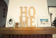 Home sweet home, wooden letters