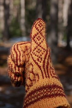 A Selbu inspired color work glove pattern.: