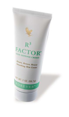 Help your skin RETAIN its natural moisture, RESTORE its resilience and RENEW its appearance with R3 Factor® Skin Defense Creme – a rich combination of stabilized Aloe Vera gel, soluble collagen and alpha-hydroxy acids, fortified with vitamins A and E, each vital to healthy skin.